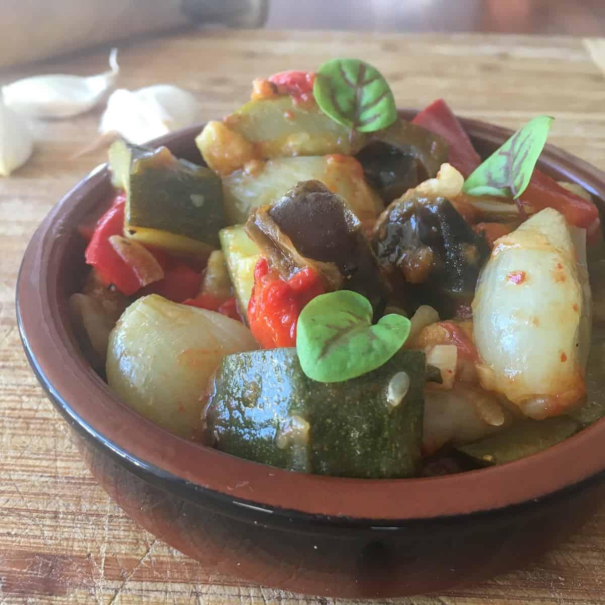 ratatouille in small bowl