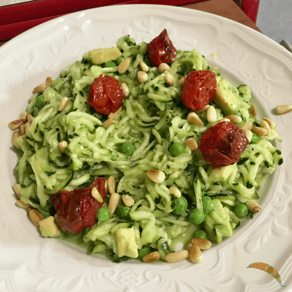 avocado and courgette salad